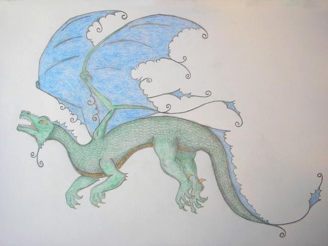 drak s andělskými křídly (Lenny)