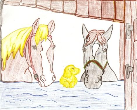Koně a štěně (Anna)