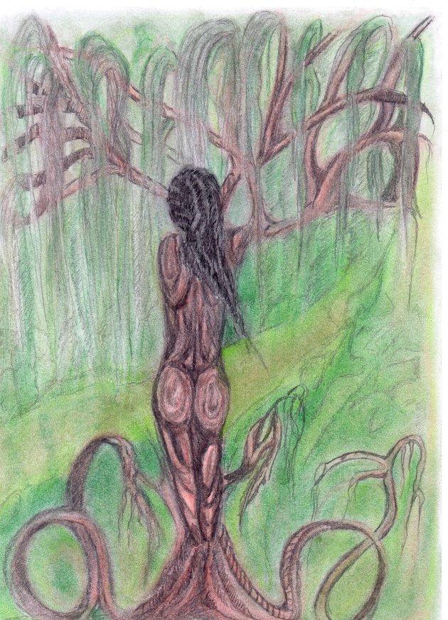 Dívka stromem