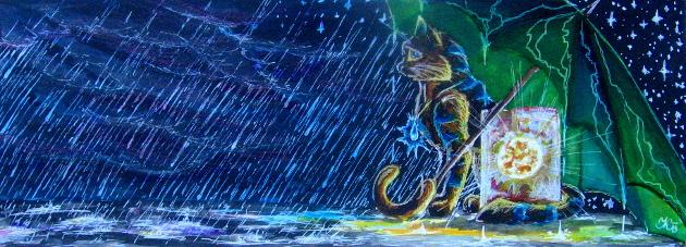 Prší. (Katanga)