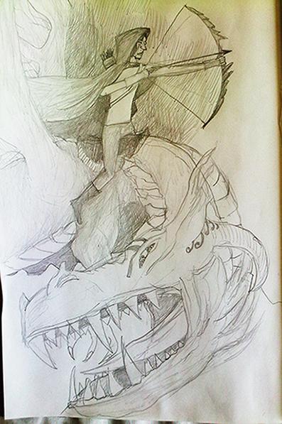 Lovec na měsíčním drakovi (migelos)