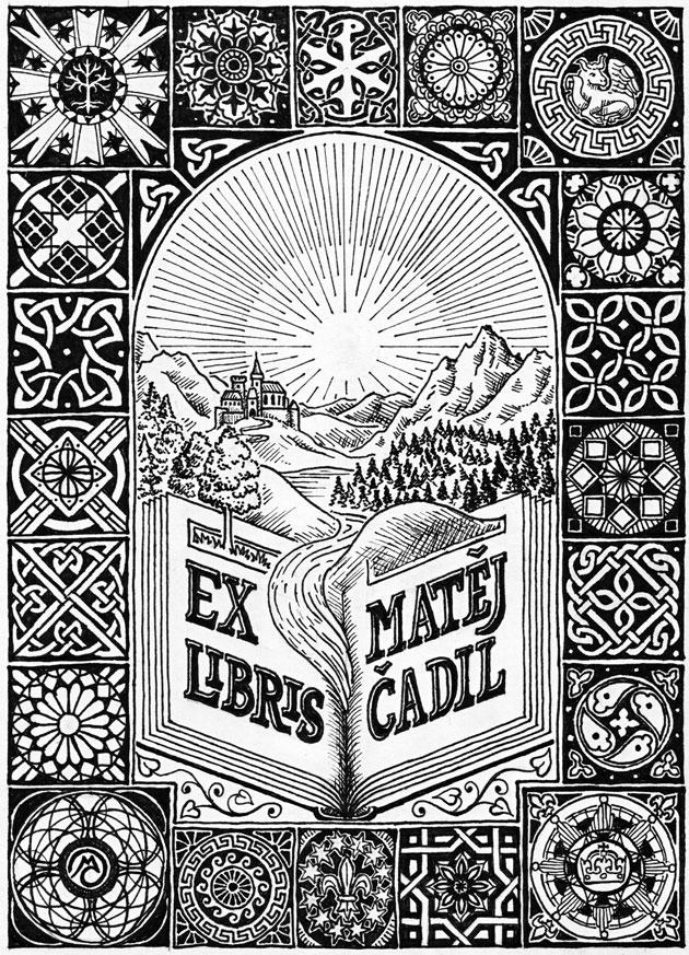 Ex libris M. Č.