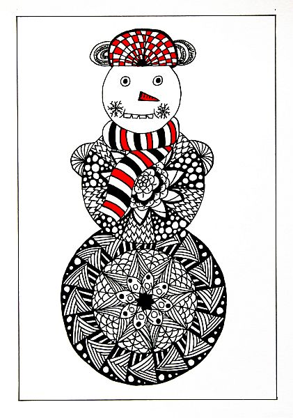 Mandalový sněhulák (Anbeads)
