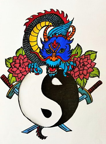 Jin a jang - černá a bílá