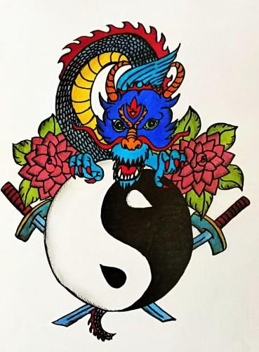 Jin a jang - černá a bílá (wolfgoth)