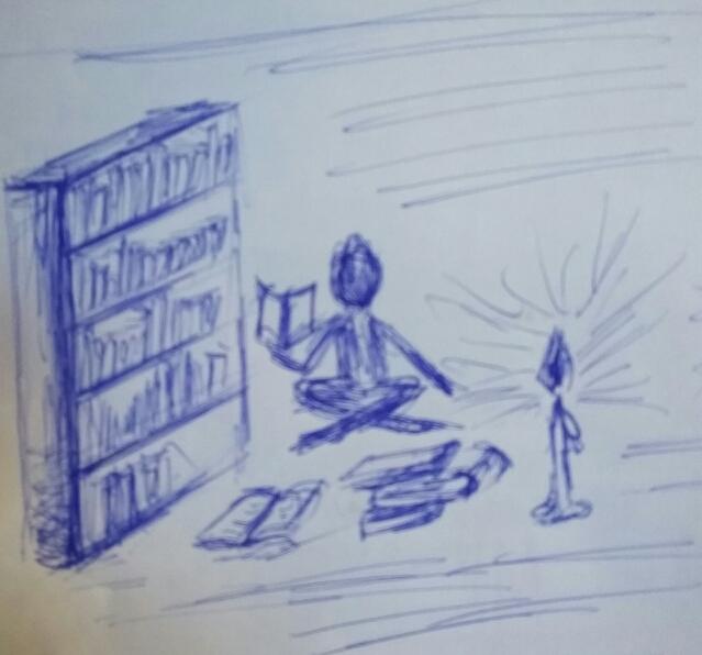 v knihovne pri svickach (MEliska)