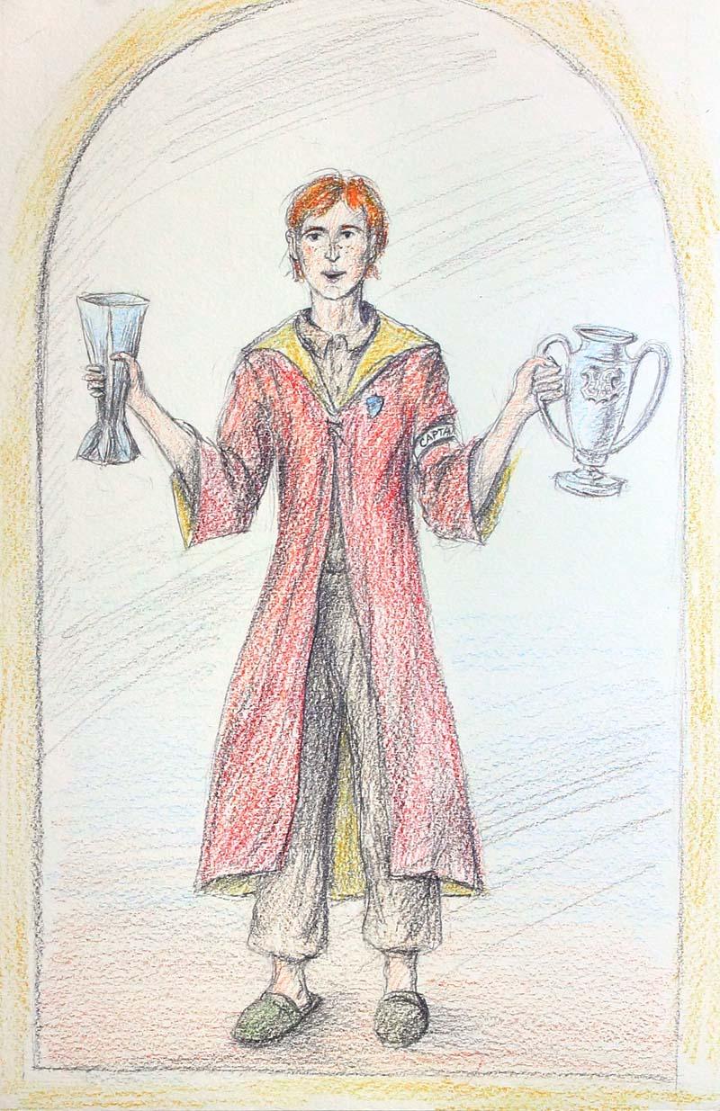 Ron a zrcadlo z Erisedu (Saima)