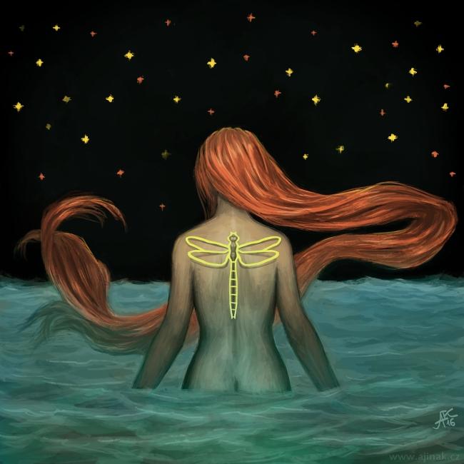 O moři, konci a vážce