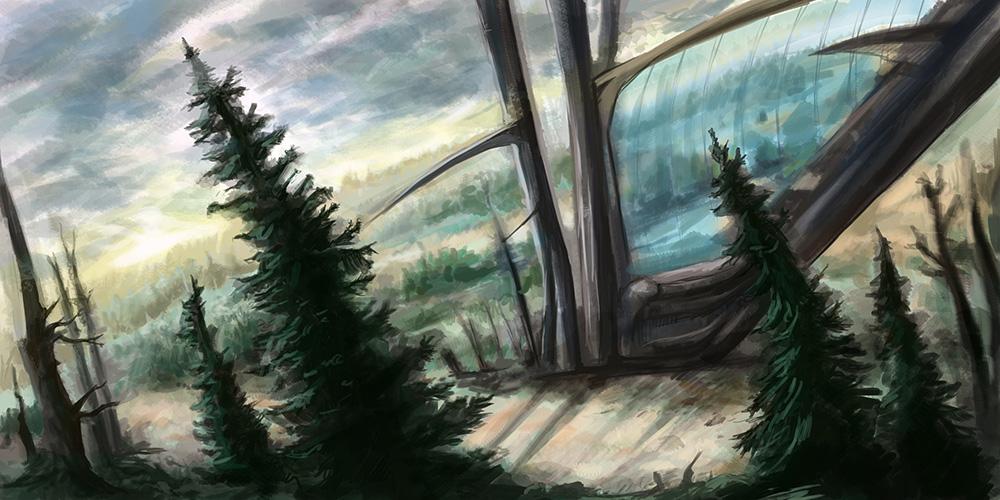 Co se tyčí nad lesy