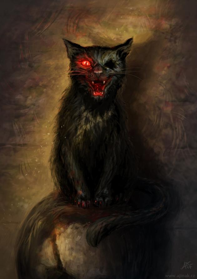 Černý kocour (ajinak)