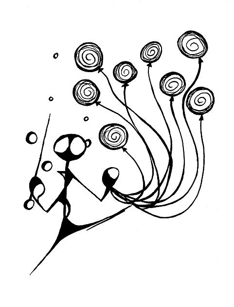 Pan Grow a osm balónků (vilem01)