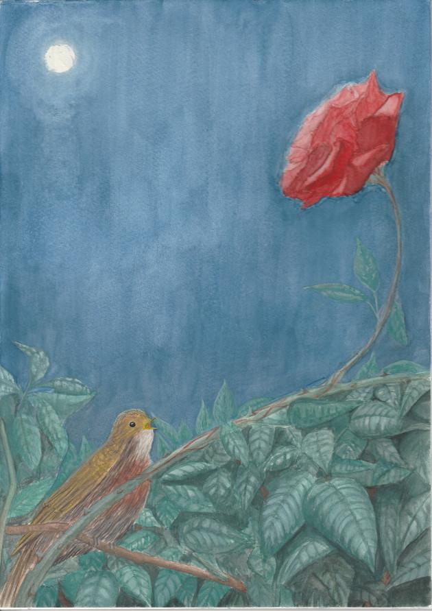 Slavík a růže