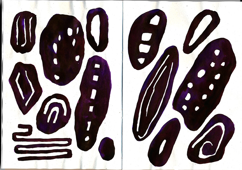 Fialové tvary bez významu (Kari)
