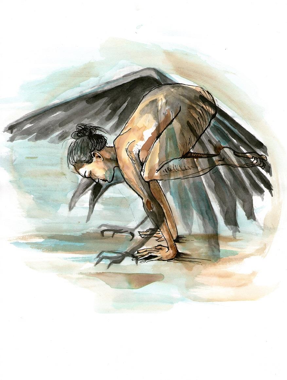 Jóga - pozice vrány (Jolly)