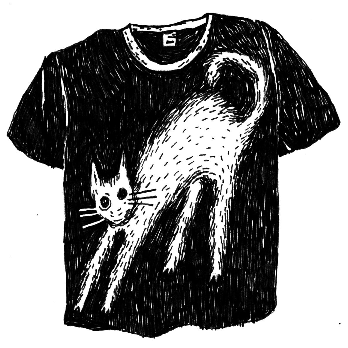 Tričko s kočkou (Kari)