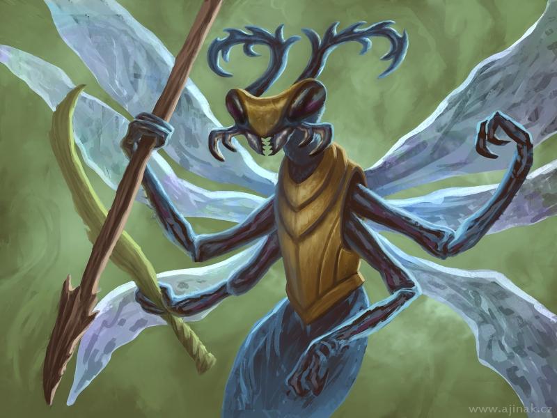 Hmyzí válečnice (ajinak)